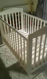 BabiesRus roma 3 height cot and mattress for sale
