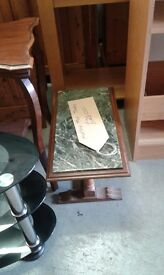 Vintage marble top side table lovely item £28.00