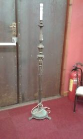 Antique Vintage Standard Lamp..originally silver plated