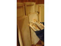 Wood for bonfire - disassembled old kitchen units