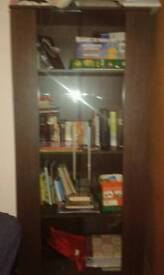 Display cabinet tv stand and coffee table dark brown