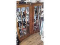 Beautiful double bow display cabinet.