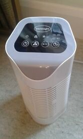 Silent Night Air Purifier - HEPA & Carbon Filters for Allergies, Pollen, Pets, Dust Timer Function