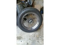 "Harley Davidson 16"" Ultima 40 Spoke Front wheel with 3/4"" Wide Glide Axle"