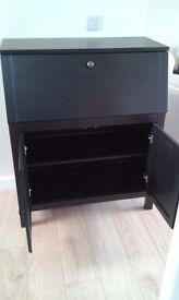 bureau, black/brown, current IKEA model
