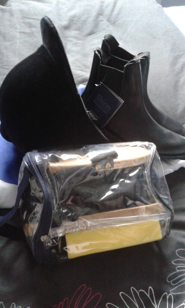 Junior Riding Hat and boots all new condition