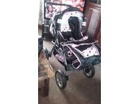 Julia pram, with interchangeable cot and car travel seat