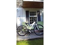 bicycle. Ladies Trek 3700. Immaculate, as new with mudguards, 22 inch wheels, shimano brakes