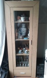 oak effect Display Glass Unit