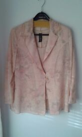 Italian 3 piece mother of the bride outfit worn once cost over £200 in varying soft shades of pink.