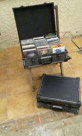 Flight cases with over one hundred cd's