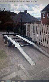 Four wheel car transporter trailer