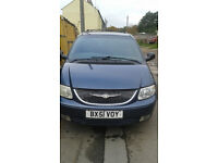 Chrysler Voyager 2.5 CRD LX 2001(51) 13mnth MOT Towbar 7 seater Voyager number plate (VOY)