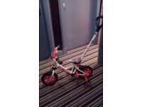 "Avigo 10"" kids bike with detachable steering pole and stabilisers - not used"