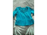 Girls sparkley long sleeve top