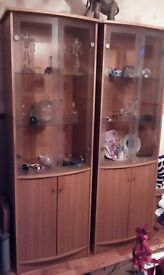 2 Piece Display Cabinet