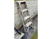 4 tread wooden step ladder