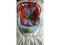 Mamas & Papas Musical Vibrating Baby Bouncer Jungle Design