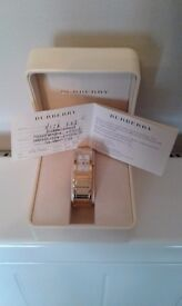 Burberry limited edition ladies watch, model 314302, serial number 08259