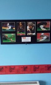 signed snooker Legends photos