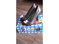 Irregular choice ladies shoes size 7 cortesan chocolate