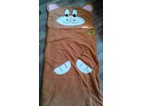 Child's Novelty Cat Snuggle Sac Sleeping Bag + Storage Bag. (Just £8)