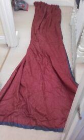 Burgundy Red Curtains. 290cm drop