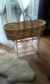 Rocking John Lewis Moses Basket_Almost new
