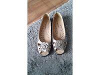 "Bronze coloured ""Cushion Walk"" flat shoes £4"