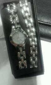Watch Braclet and Purse New
