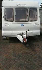 Bailey champagne 2002 touring car van 4 berth for sale porthcawl