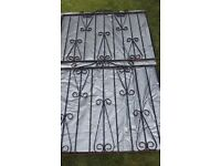 Wrought iron gates - set of 3