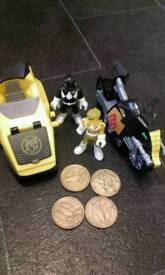 Power rangers Imaginext bike and side car