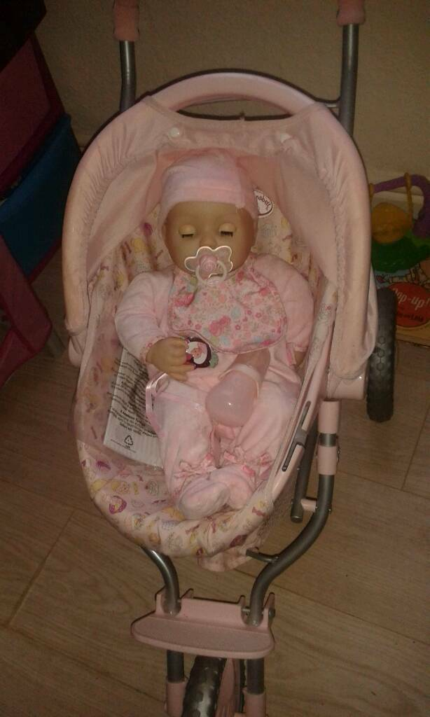Baby Annabelle and pushchair
