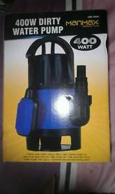 400w dirty water pump new never used