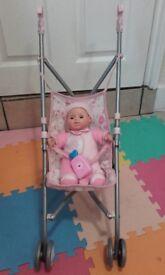 Doll+pushchair