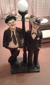 Laurel and hardy floor lamp
