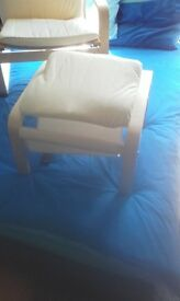 Bentwood fabric chair and footstool