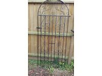 Wroght iron single tall gate with hinges £15