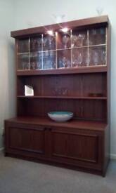Two Retro Rosewood Display Units