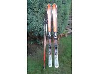 Rossignol carving skis, poles and bag