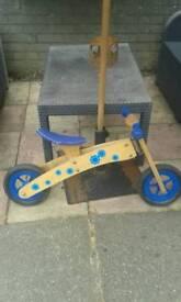 First wooden balance bike