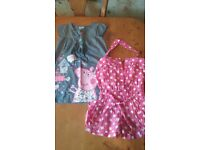 4-5 year girls dresses and playsuit