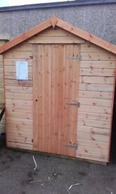 8X6 16mm T&G WOODEN APEX GARDEN SHED DISCOLOURED BARGAIN CHEAP CLEARANCE**
