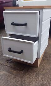 Sold built double drawer unit