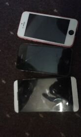 iphone5s and iphone.4.blackberry shl 100/2