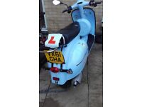 2012 neco abruzzi scooter for sale.good runner. Needs back brake sorting out.electic and kick start.