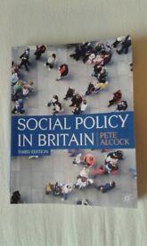 Social Policy in Britain - Pete Alcock (3rd edition)