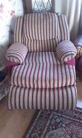 Beautiful recliner armchair
