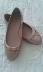 Ladies new ballet wide fit shoe
